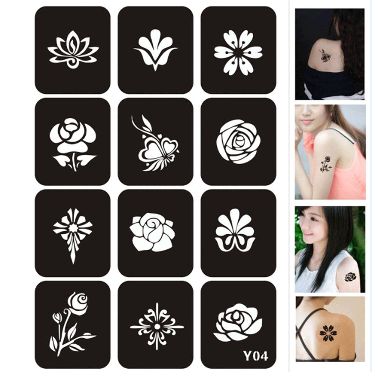 647 aud 200pcs temporary glitter tattoo stencils
