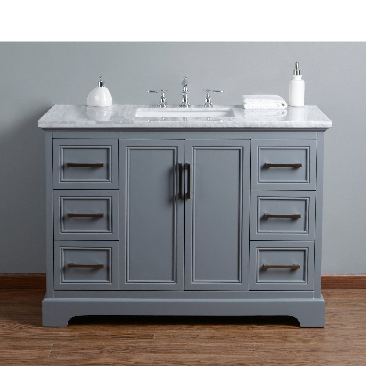 Ariane 48 Inches Slate Gray Single Vanity Cabinet Single Bathroom