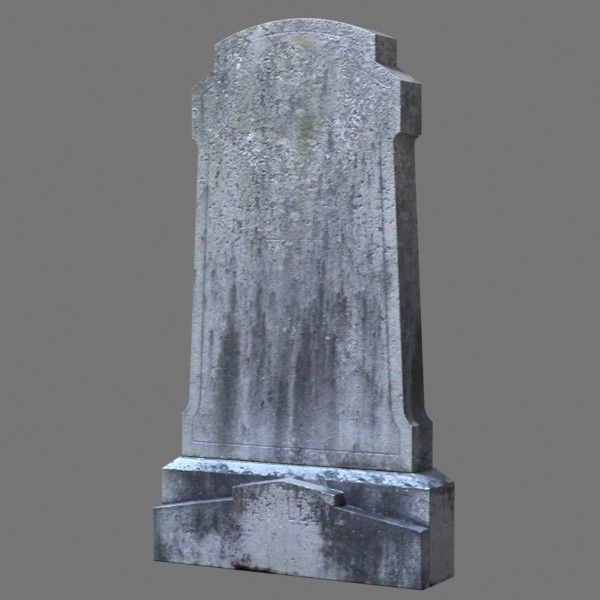 Tombstone - angled sides, shoulders, and half round top
