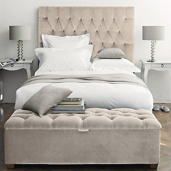 Peachy Beautiful Tufted Headboard Love The Monochromatic Color Pabps2019 Chair Design Images Pabps2019Com