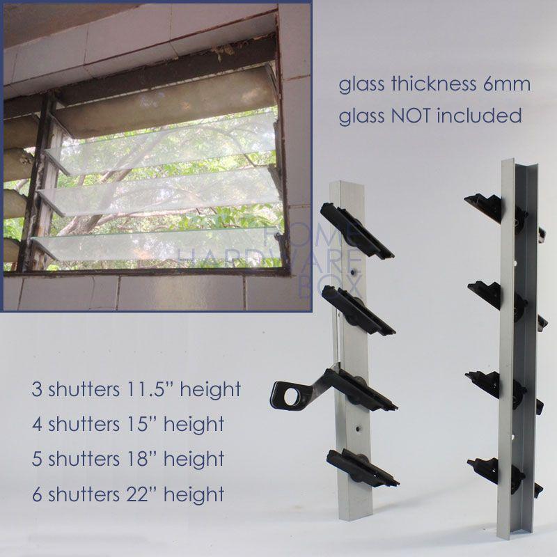 pair of jalousie window frame aluminum glass 5 shutter flip open & pair of jalousie window frame aluminum glass 5 shutter flip open ... pezcame.com