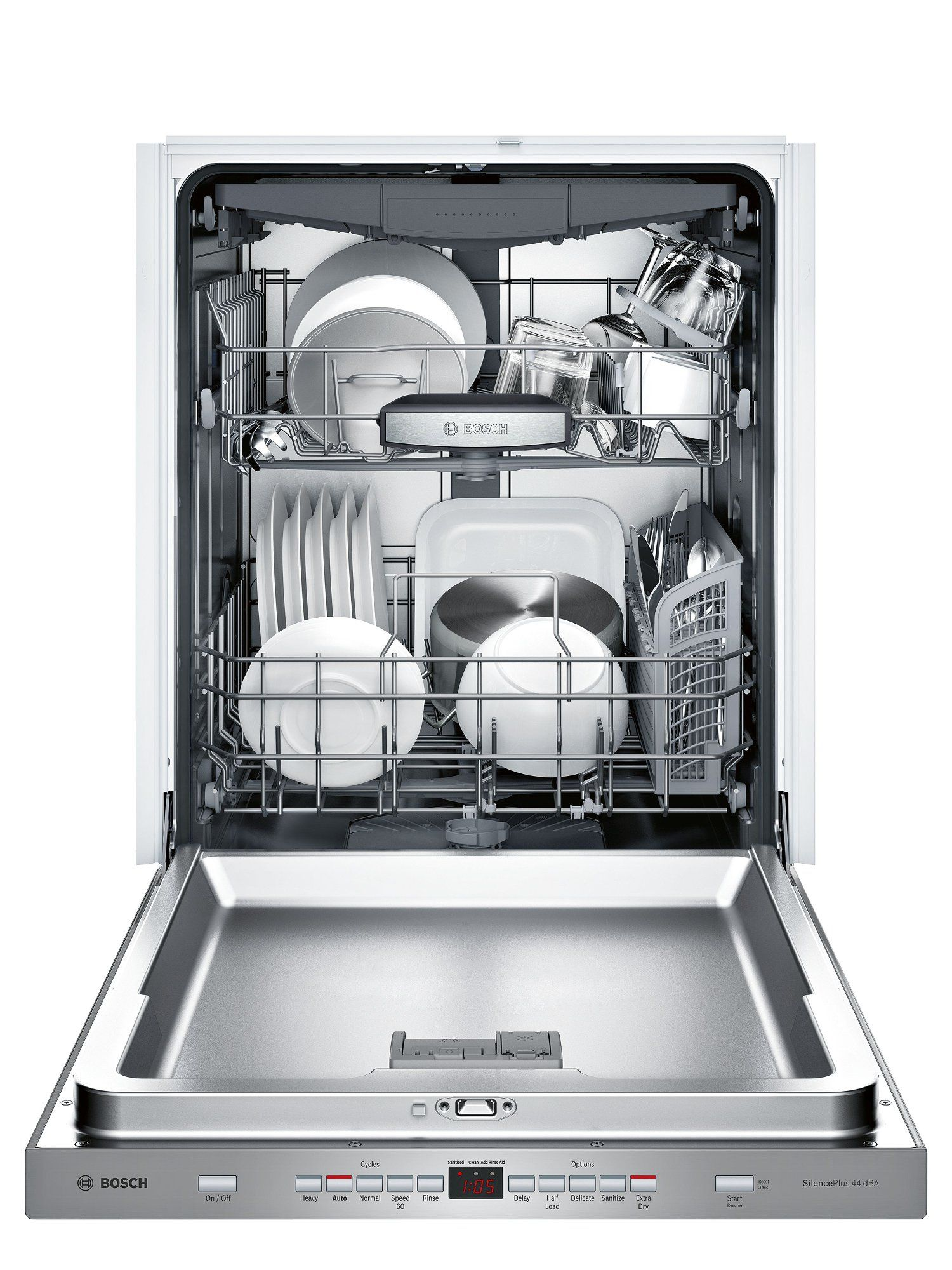 Bosch 500 Series Dishwasher With Infolight 24 Inch Stainless Steel Stainless Steel Dishwasher Built In Dishwasher Integrated Dishwasher