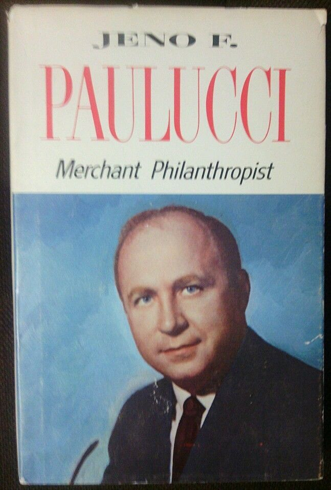 Author Vg >> Merchant Philanthropist Signed By Author Jeno Paulucci Vg Hc W Dj