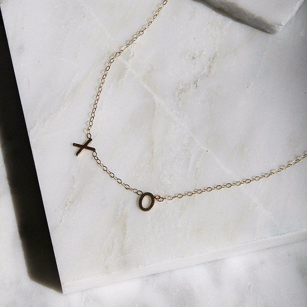 initial chains z sideways pin monogram alphabet letter necklace
