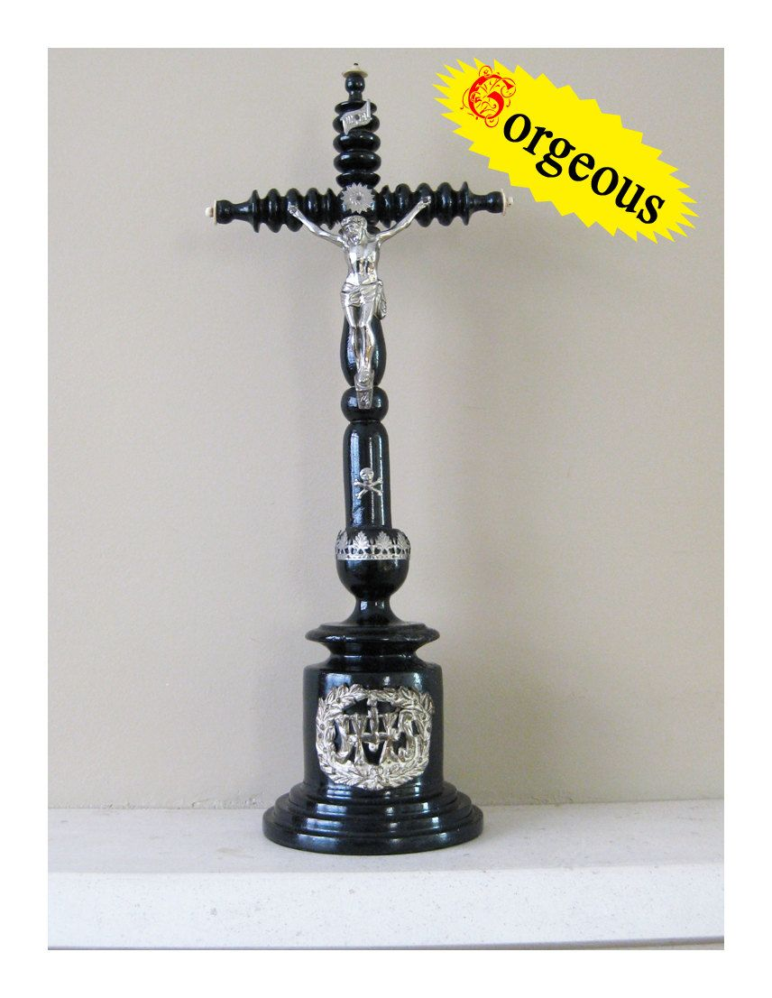 Amazing!!   Beautiful truly antique cross. $195.00, via Etsy.