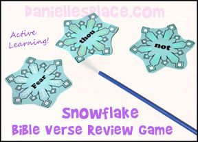 Snowflake Bible Verse Review Game Free The Lost Sheep Sunday