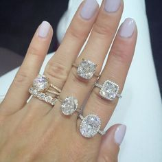 a9833ef79 The Top 10 Engagement Rings Blowing Up Our Pinterest - Stephanie Gottlieb  diamond engagement rings