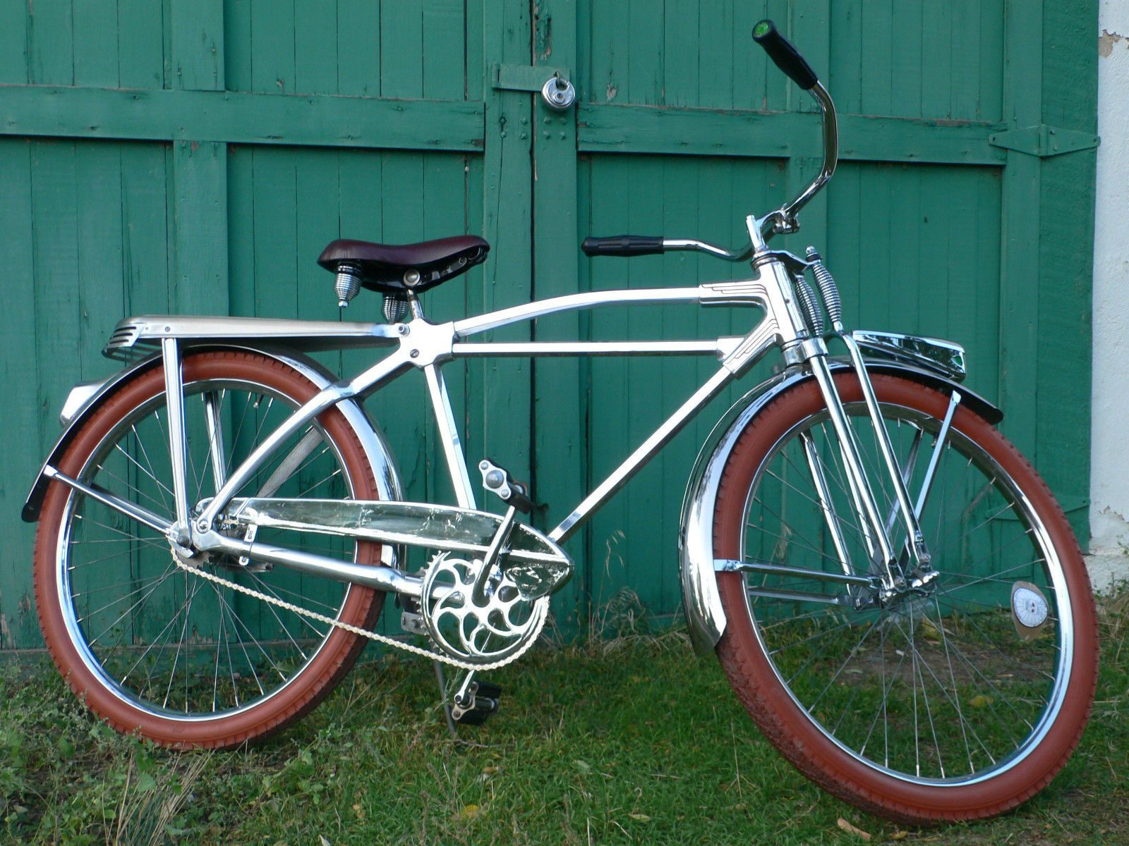 1948 monark silver king hex tube 26 aluminum bicycle