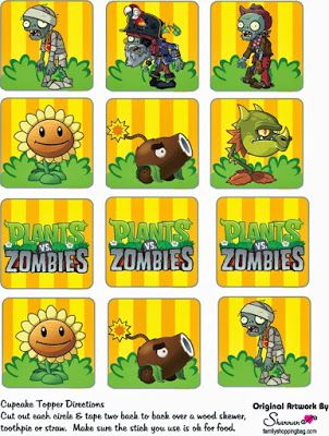 Fiesta De Plants Vs Zombies Cumpleanos Tematico Planta Vs Zombies