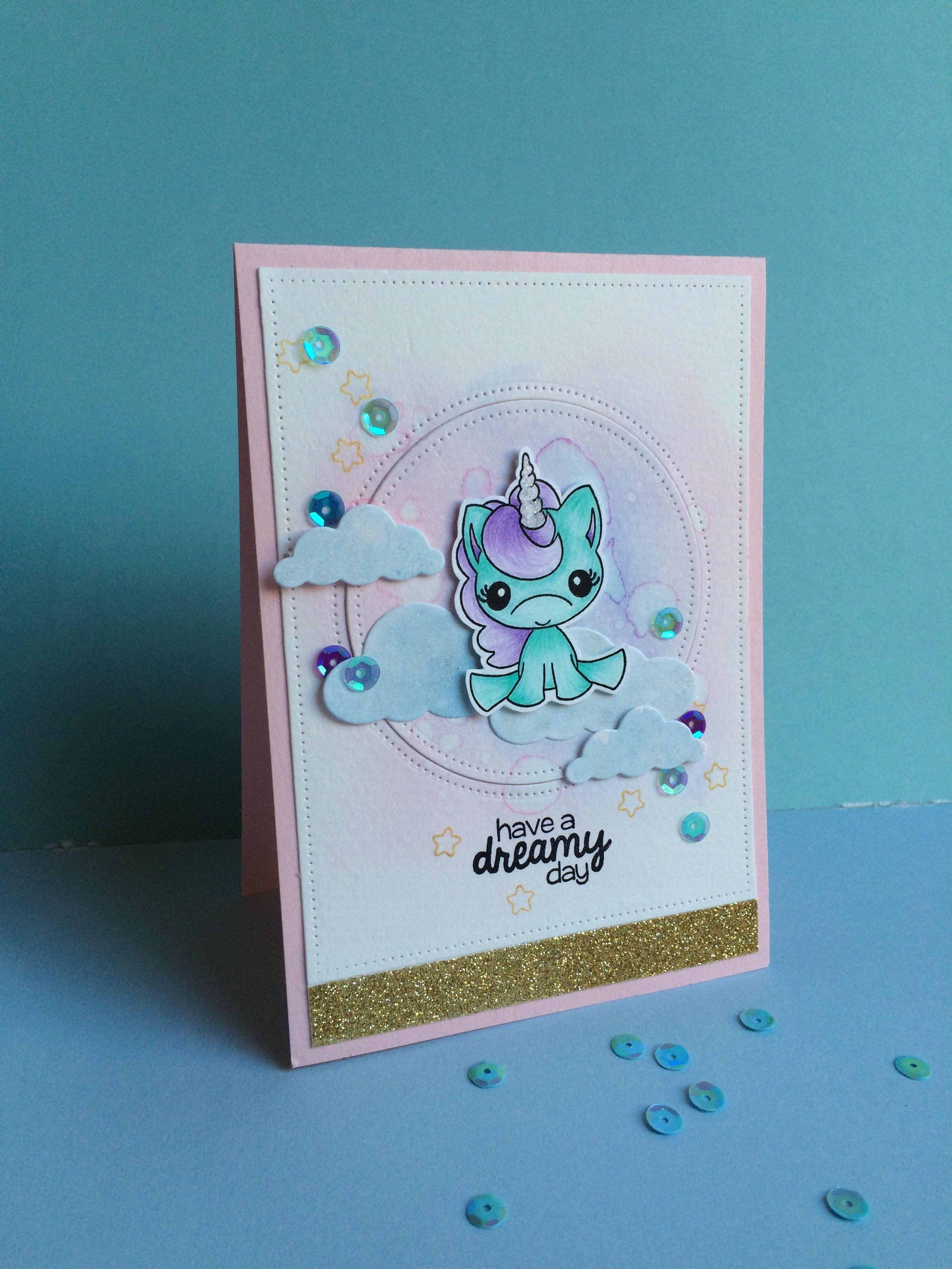 unicorn von pink  main  unicorn card birthday cards diy