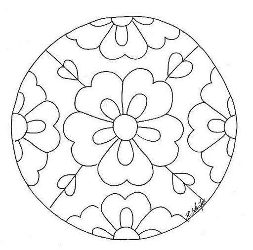 Mandalas Para Pintar mandalas de flores mandalas Pinterest