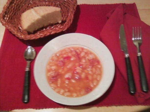 Ham Bean Soup (Pressure Cooker).