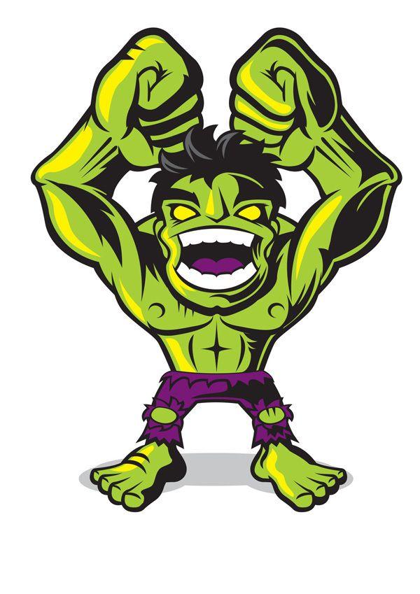 #Hulk #Fan #Art. (MARVEL COMICS MINIS) By: Chad Woodward. (THE * 5 * STÅR * ÅWARD * OF * MAJOR ÅWESOMENESS!!!™)
