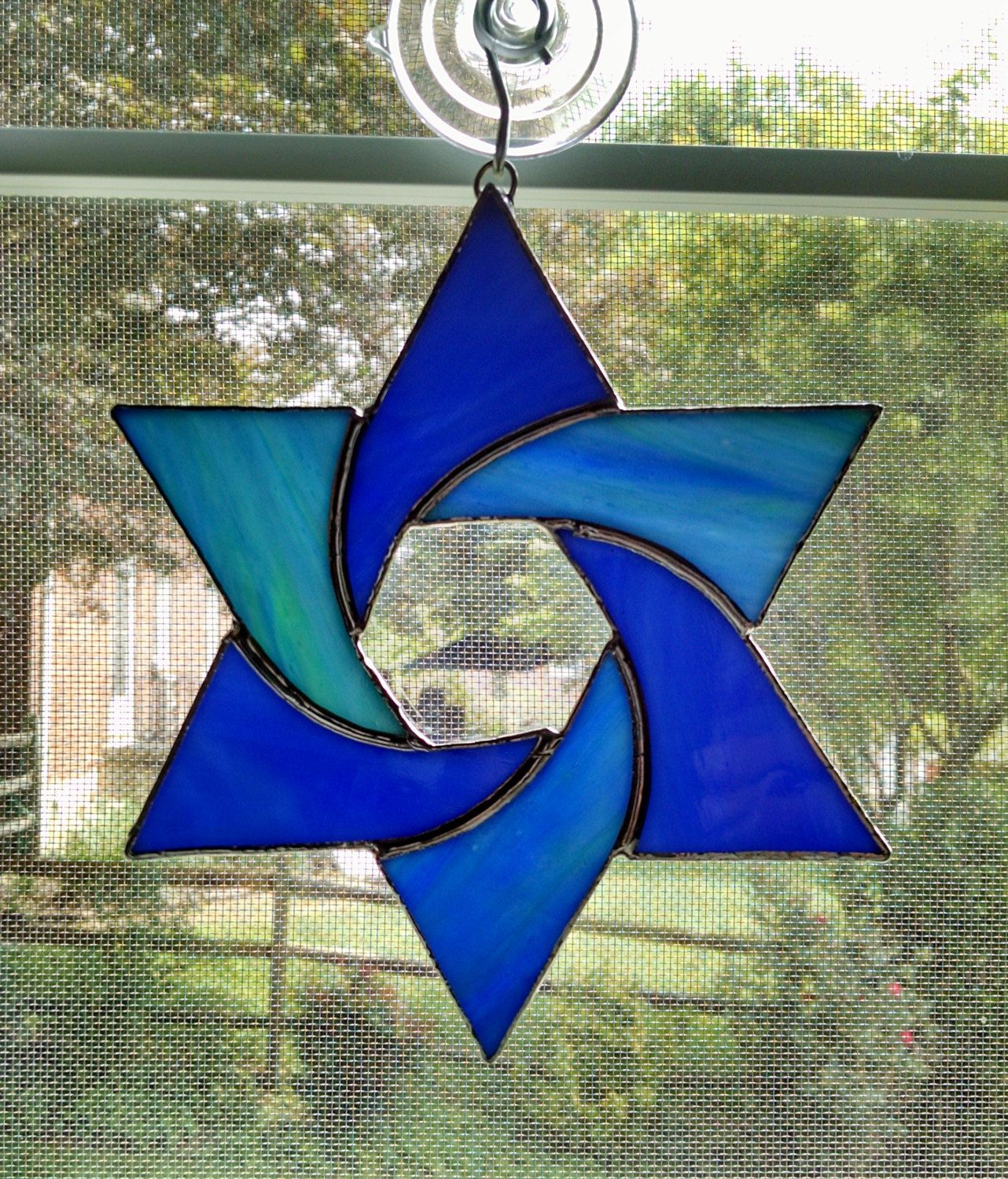 Stained Glass Star Suncatcher  Star Of David  Jewish