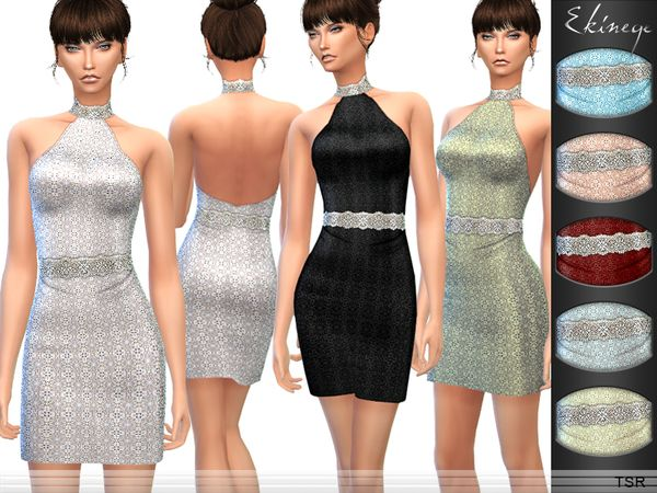 Sims 4 CC's - The Best: Dresses by Ekinege