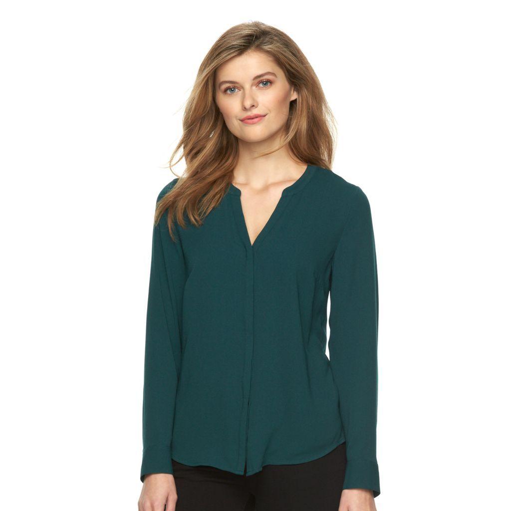 Women\'s Apt. 9® Crepe Blouse   Teacher Clothes   Pinterest ...