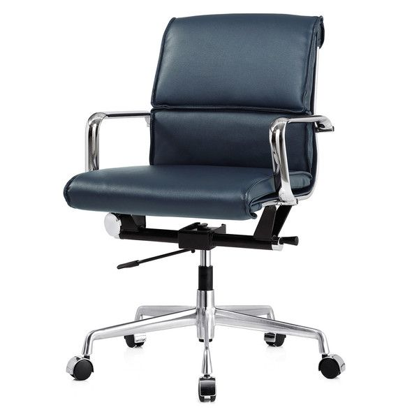 M330 Office Chair In Navy Blue Vegan Leather Color Options Office Chair Leather Office Chair