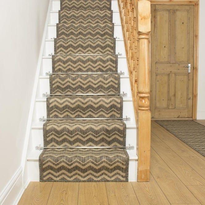 Best Chevron Tweed Stair Runner Rustic Rugs Textured Carpet 400 x 300