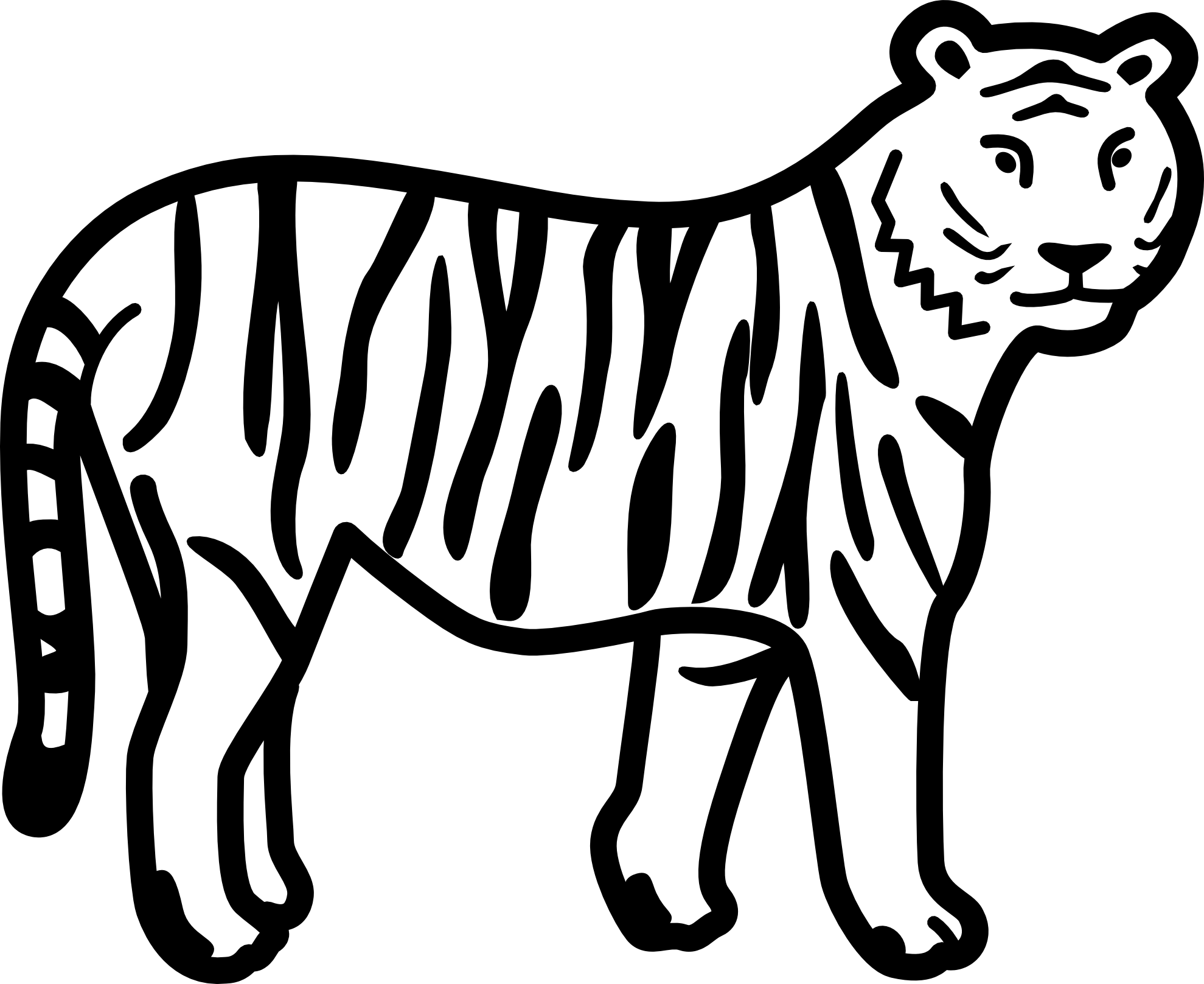 Tiger Coloring Pages For Kids And Adults Submit