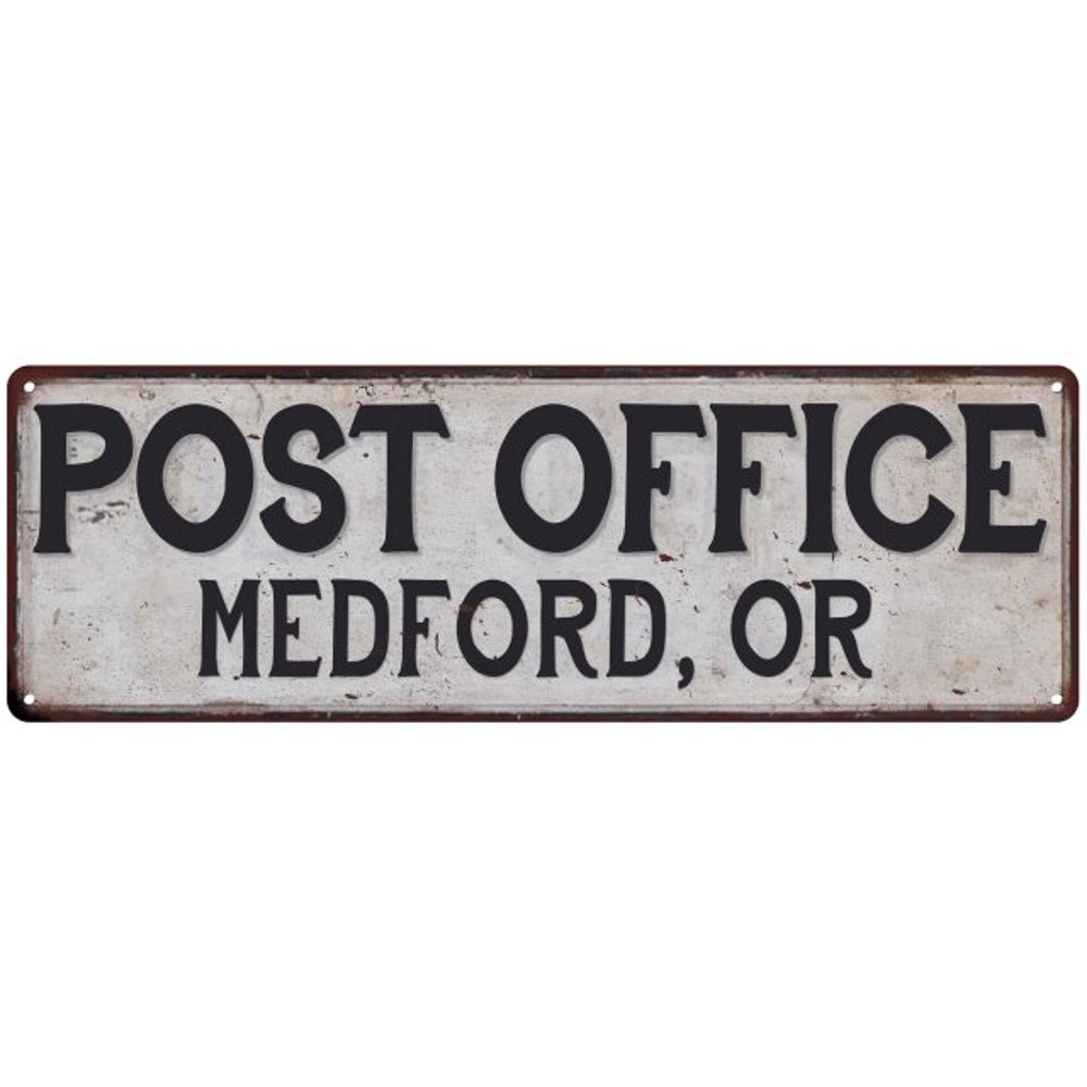 Medford Or Post Office Personalized Metal Sign Vintage 6x18 106180011413 Walmart Com Walmart Co Vintage Metal Signs Personalized Metal Signs Vintage Signs