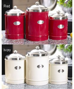 stainless steel kitchen canister capriware ceramic and stainless steel kitchen canisters 22166