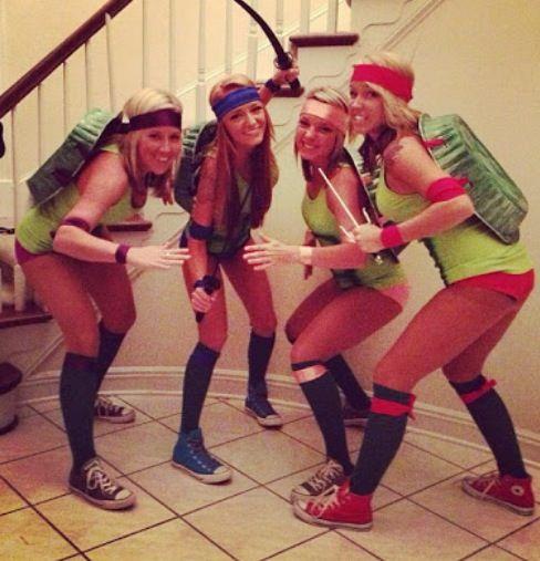 Diy ninja turtle group costume halloween costumes pinterest diy ninja turtle group costume solutioingenieria Gallery