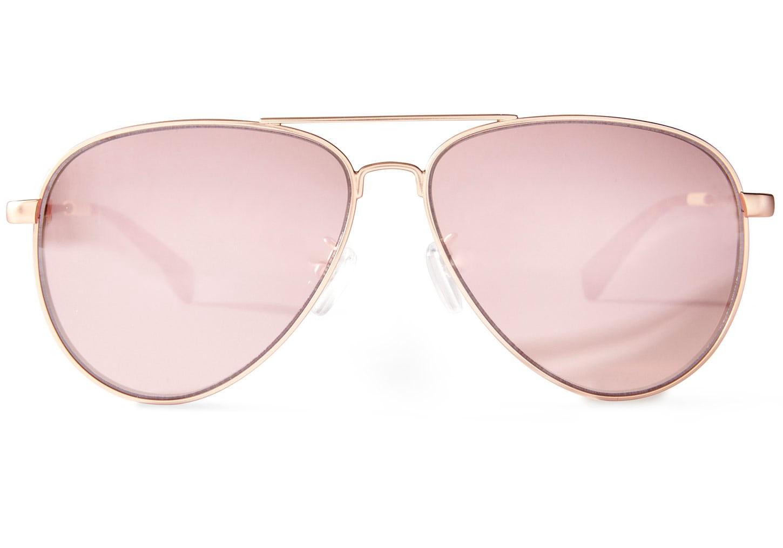 94d1372a178b Toms Maverick 301 Satin Rose Gold Sunglasses With Mirror Polarized Lens - Os