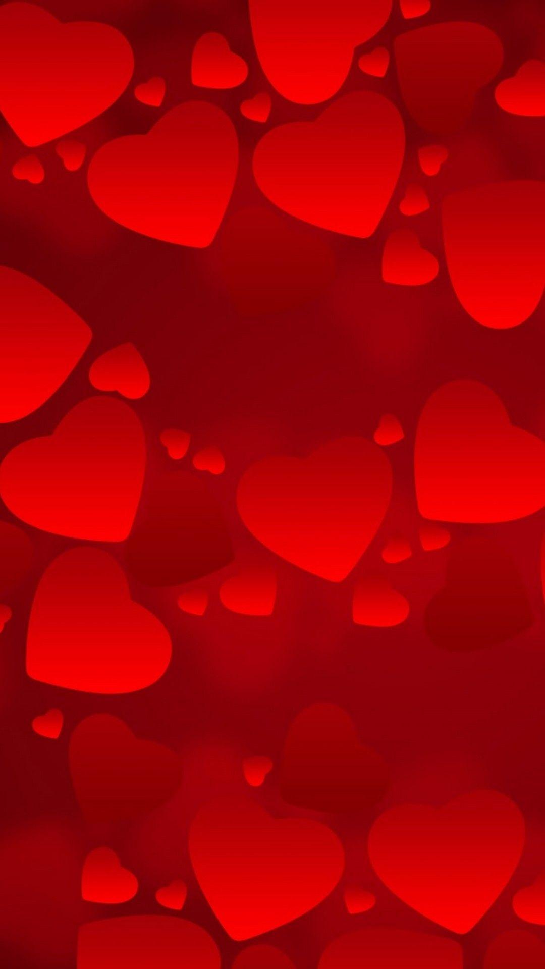 Red heart valentine wallpaper iphone iphonewallpapers - Valentines day background wallpaper ...