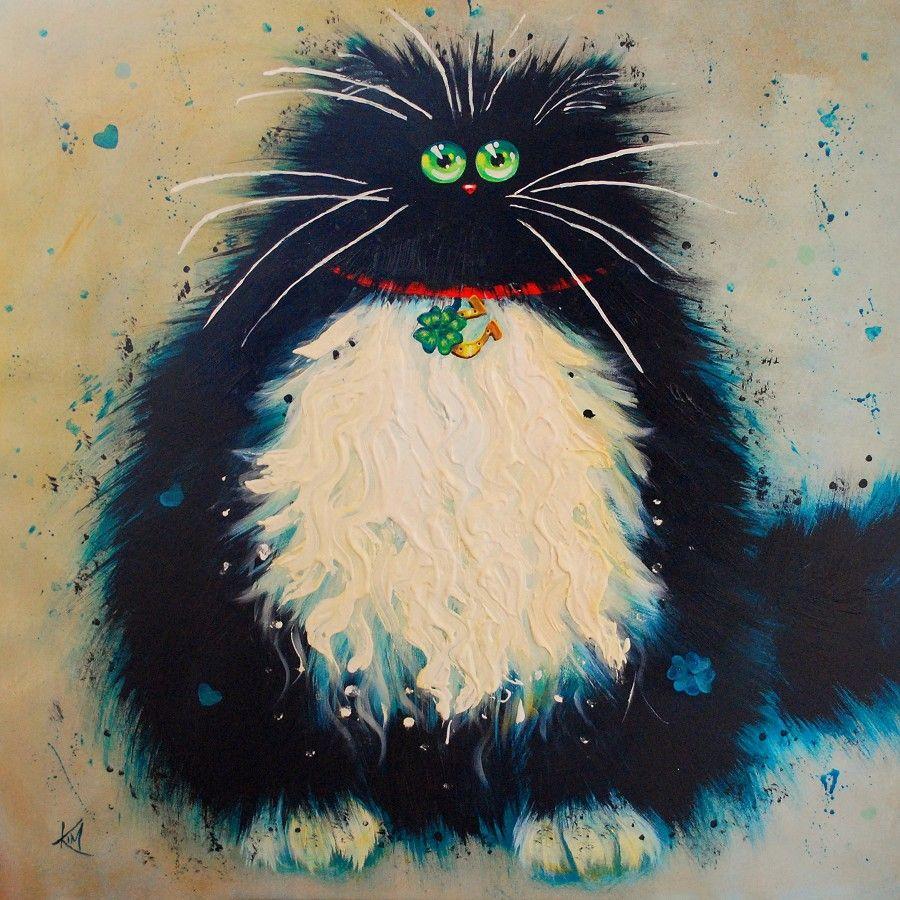 Картинки рисованных смешных кошек