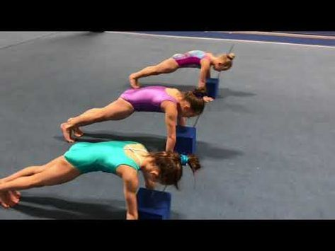 conditioning rounded chest press handstand  youtube