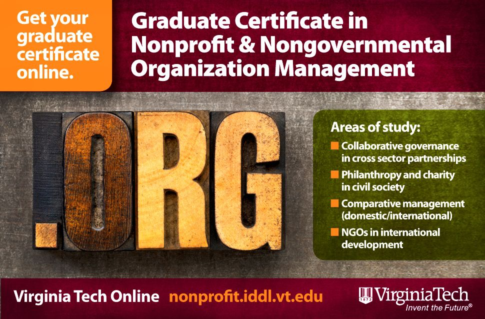 Graduate Certificate In Nonprofit Nongovernmental Organization