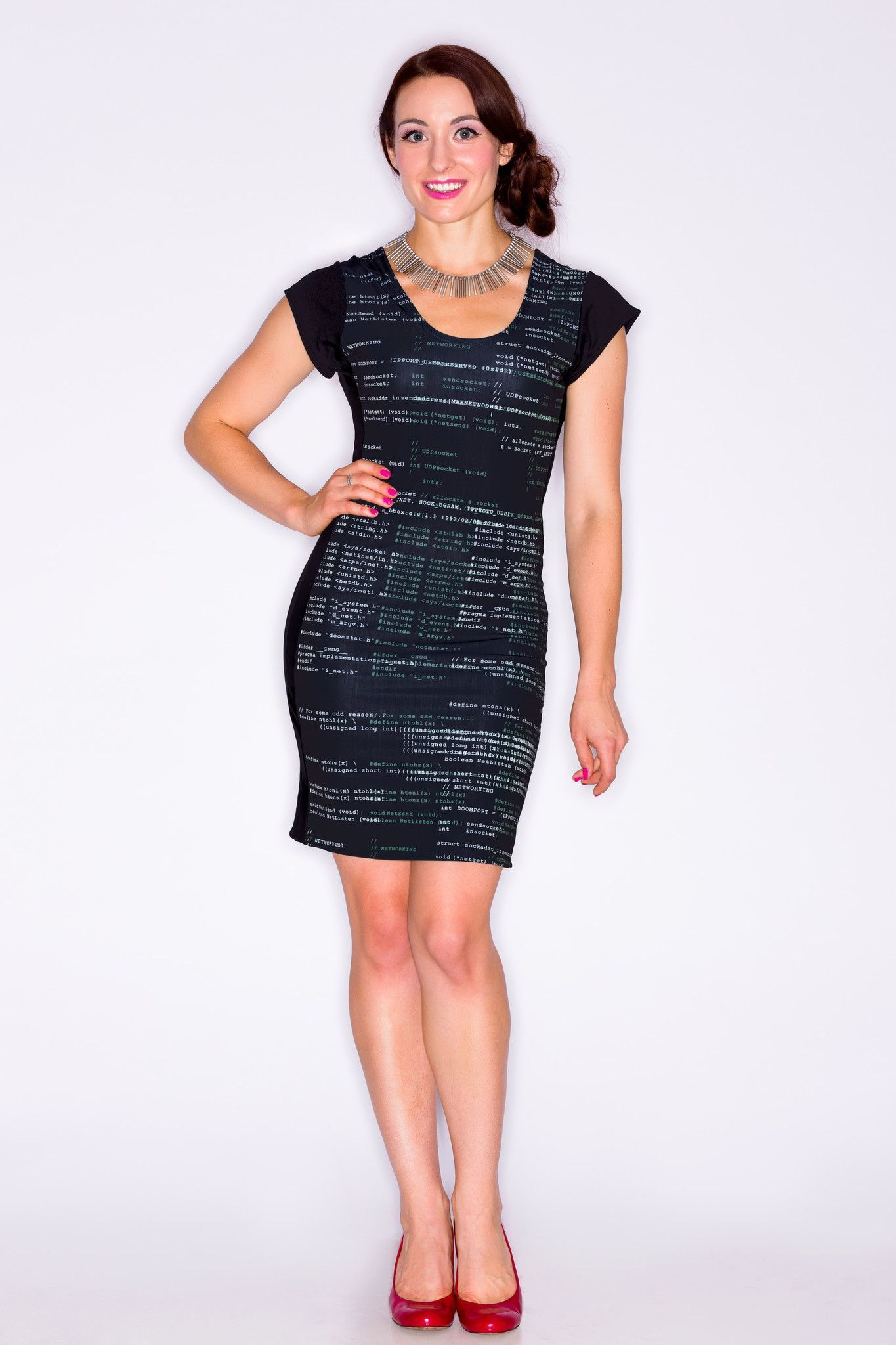 Code Poetry Dress
