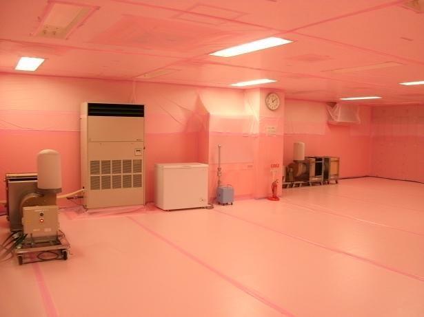 福島第一原子力発電所1/2号サービス建屋2階休憩所
