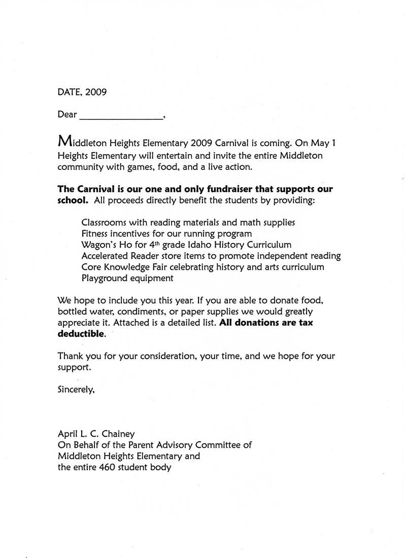 carnival donation request letter to create pinterest fundraising silent auction and scrapbook