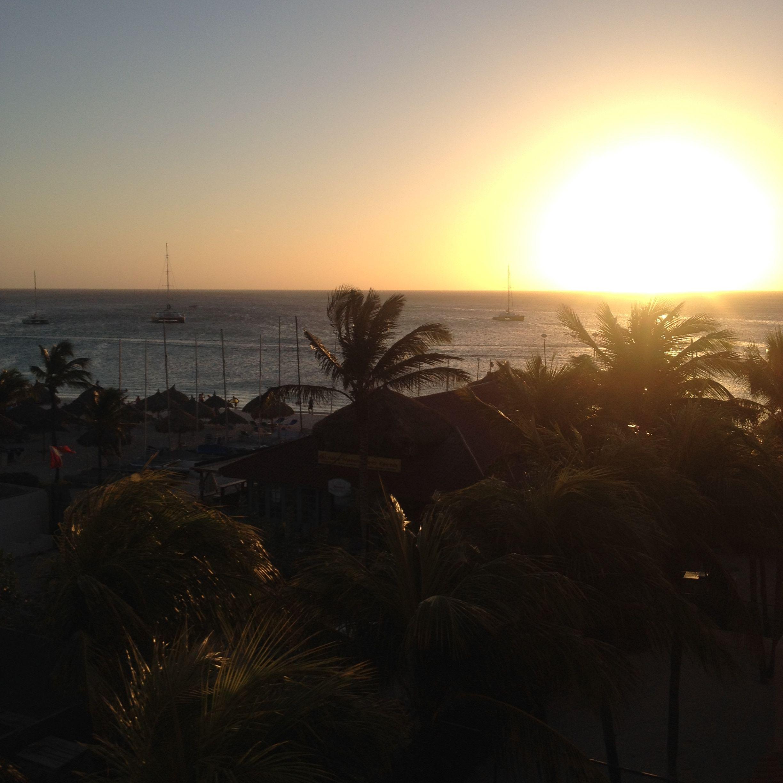 Atardecer en Aruba.