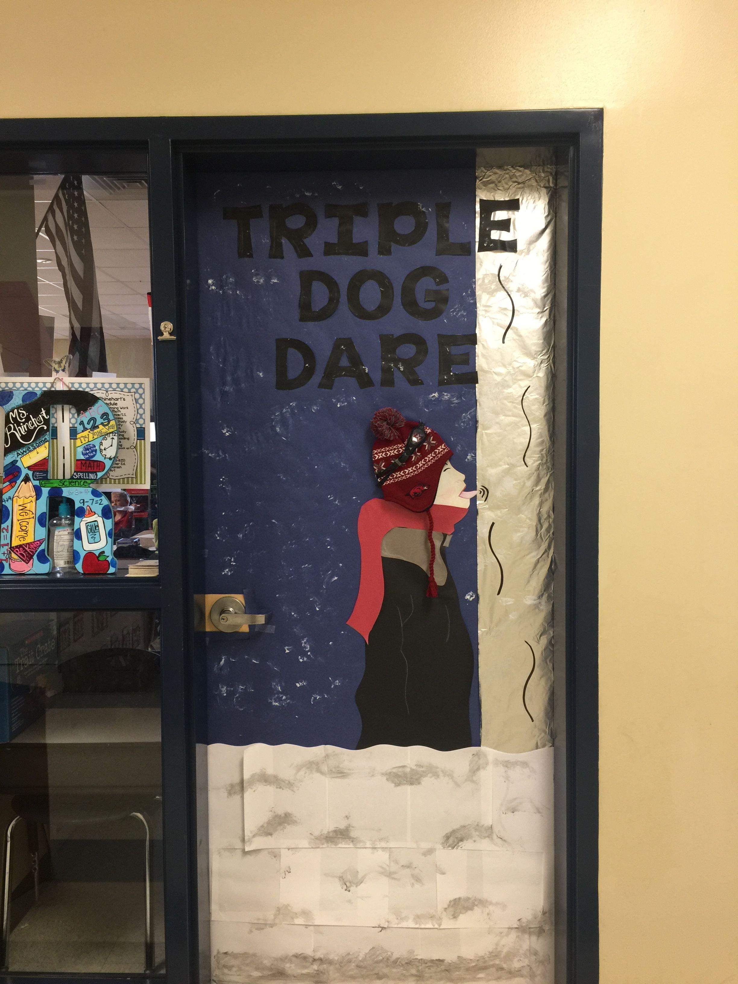 Christmas door decoration for school School door