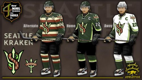 Power Rankings Thursday Seattle Nhl Expansion Concepts 1 Seattle Kraken By Sparkychewbarky This Is One Of The Most Fleshed Out Nhl Jersey Boys Seattle Logo