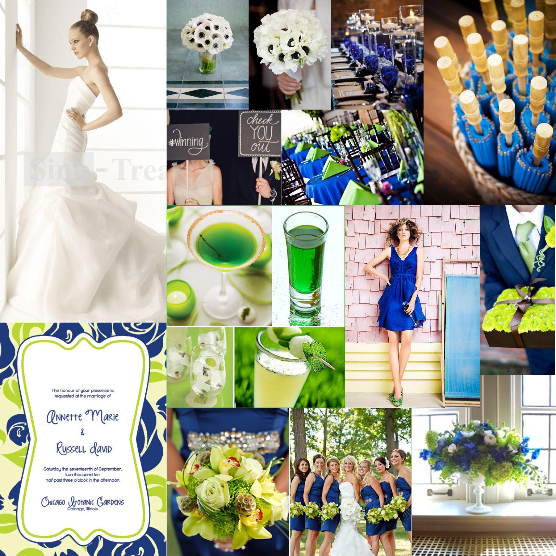 Wedding Board Wednesday Cobalt Chartreuse Weddingcobalt Weddinglime Green