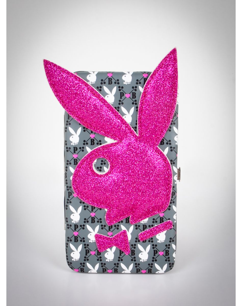 a0e21063d990 Playboy Diner Glitter Bunny Hinged Wallet Lapin Playboy