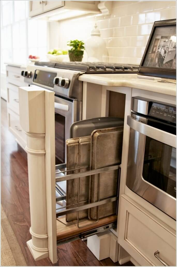 Kitchen storageInstall a Narrow Rack In Any Small
