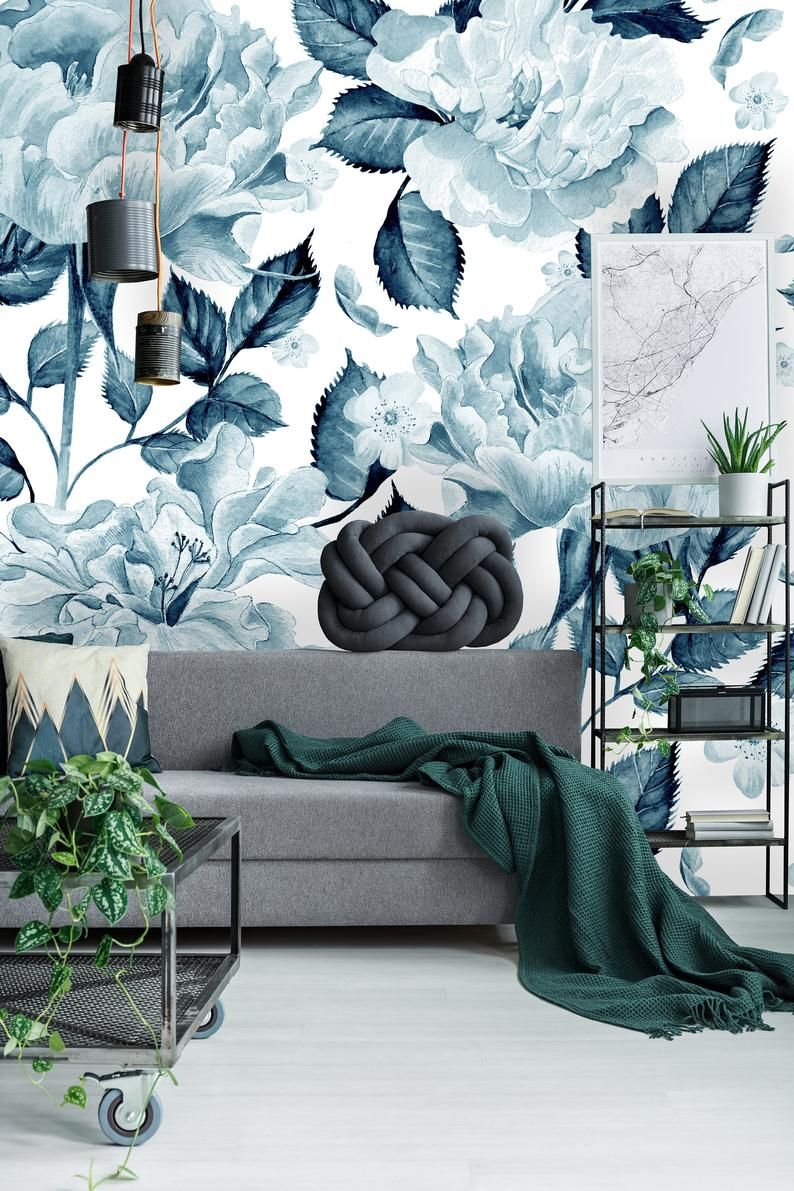 Removable Wallpaper Self Adhesive Wallpaper Watercolor Pattern Etsy In 2021 Removable Wallpaper Mural Wallpaper Self Adhesive Wallpaper