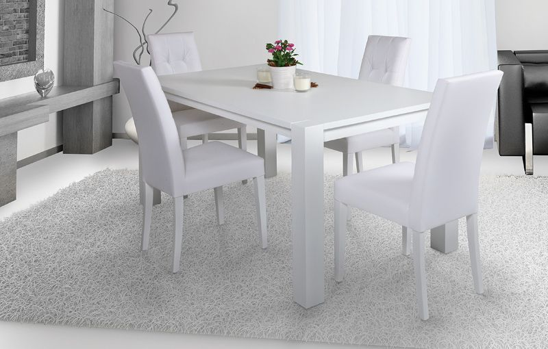 Tavolo Bianco Moderno.Tavolo Moderno Allungabile In Legno Mod Daisy Frassino