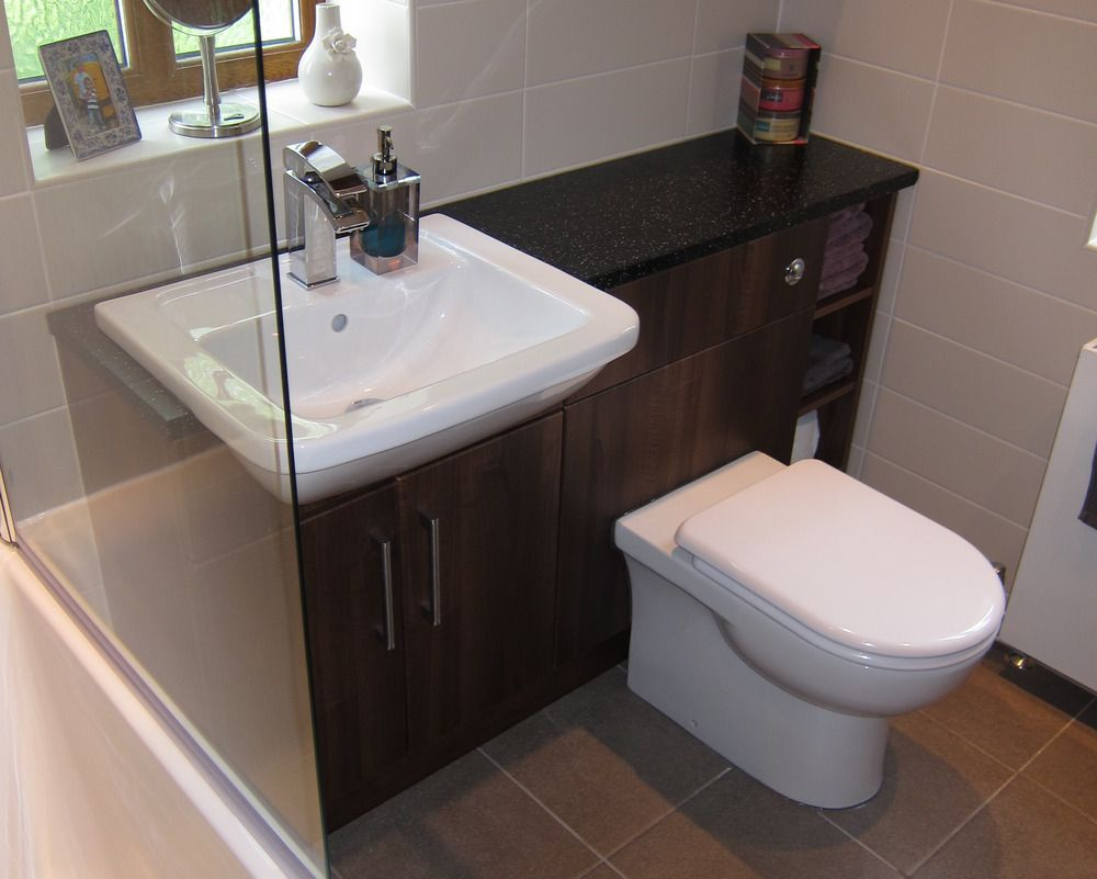bathroom vanity units with basin and toilet - Living Room and Bath ...