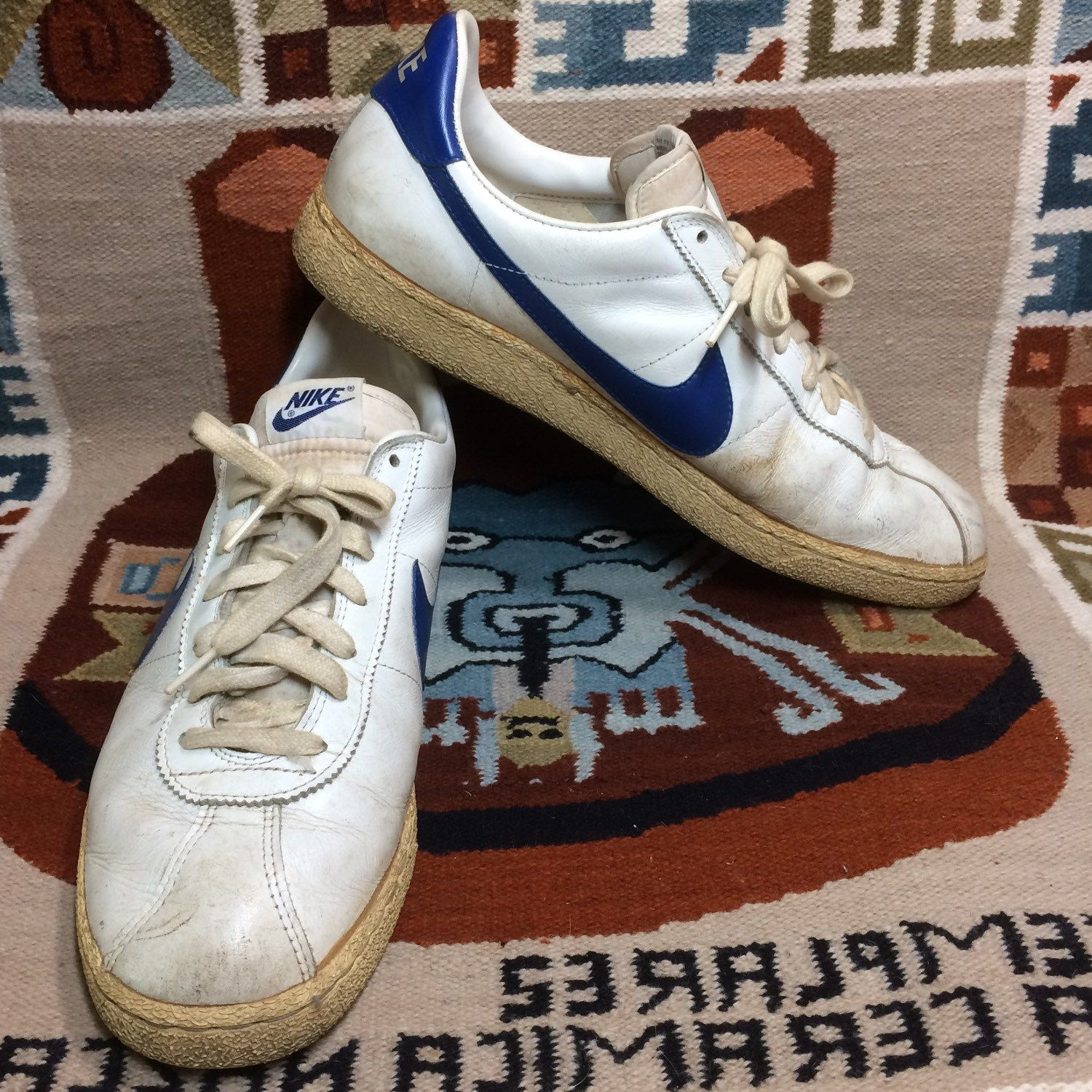 Onza vistazo Temblar  1982 Nike Bruin leather Sneakers size 13 White blue swoosh made in Thailand  Marty McFly back to the future collector | Nike, Leather sneakers, Sneakers