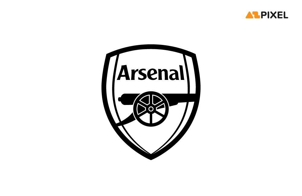 arsenal black and white logo vector