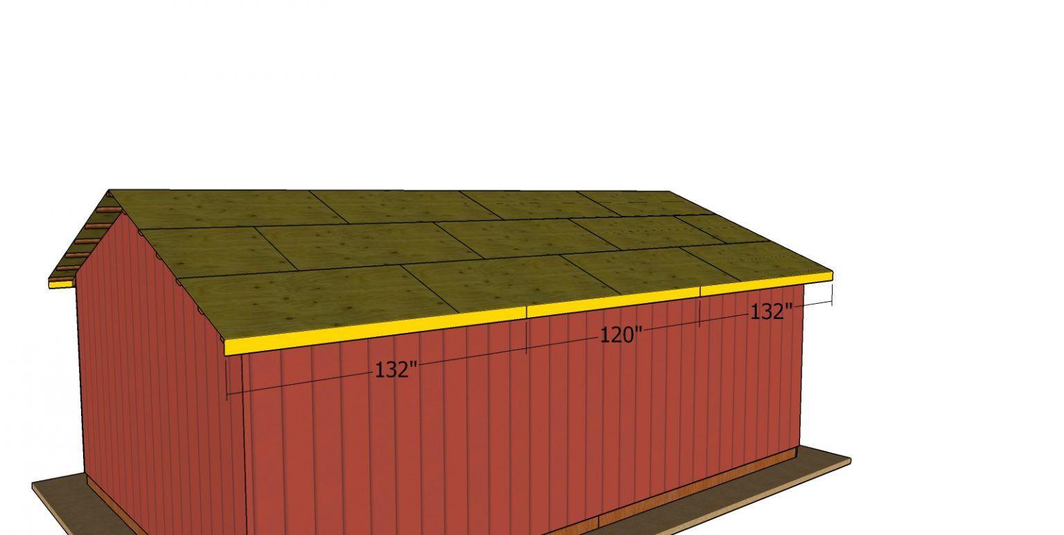20x30 Gable Pole Barn Roof Plans MyOutdoorPlans Free
