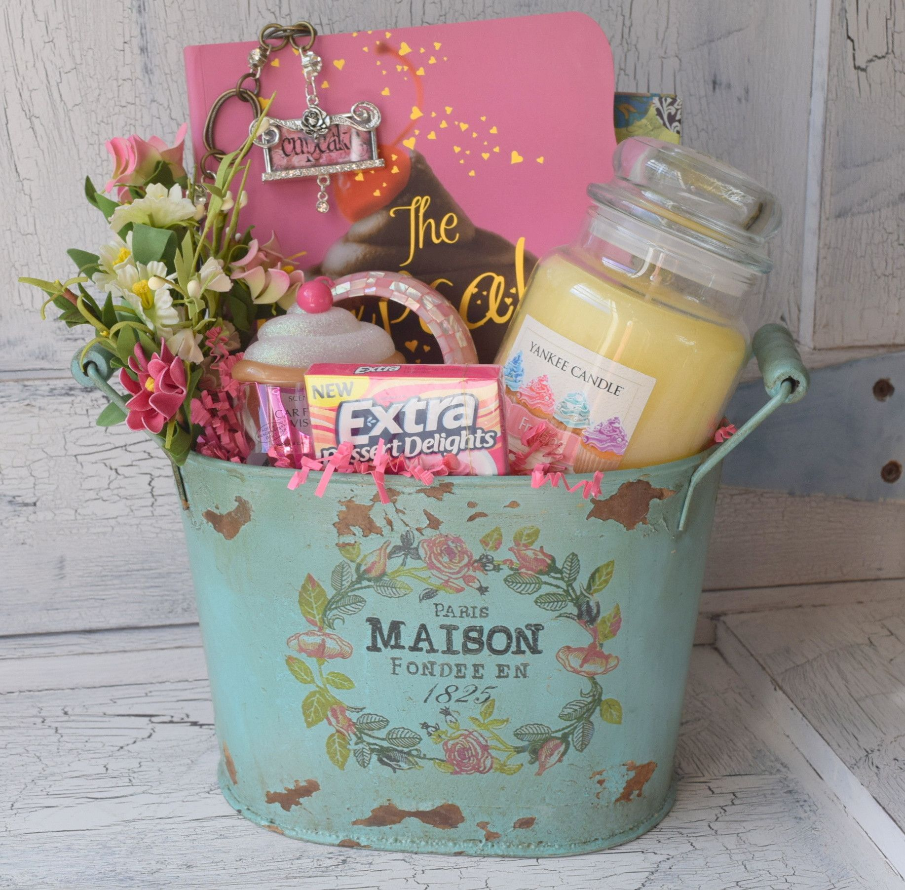Cupcake Gift Basket | Tin buckets, Buckets and Gift