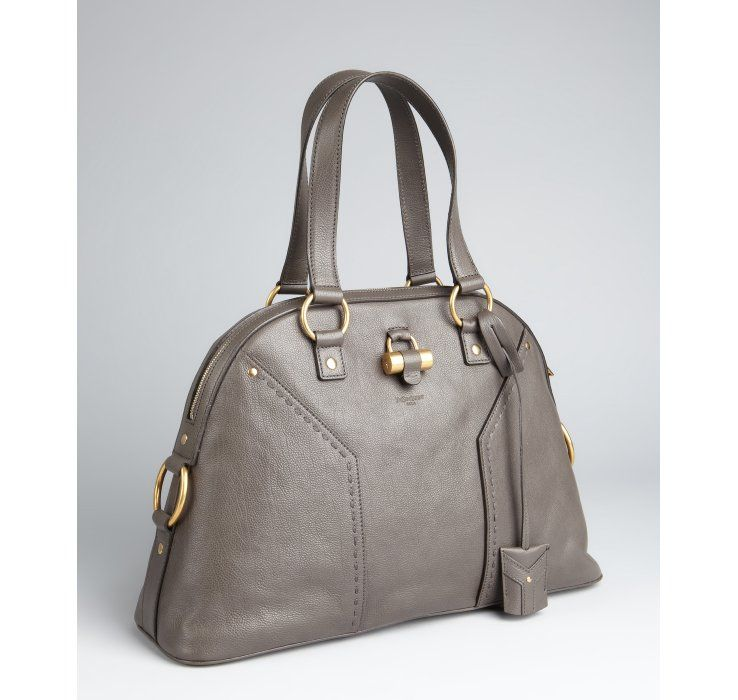 Yves Saint Laurent, Muse large tote, Grey