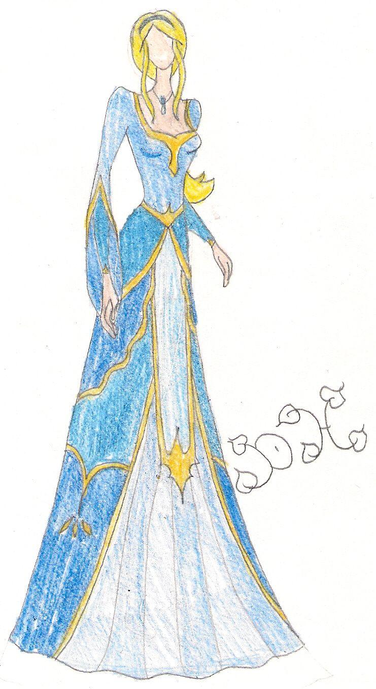 Medieval Princess in Blue by Fashionista122.deviantart.com