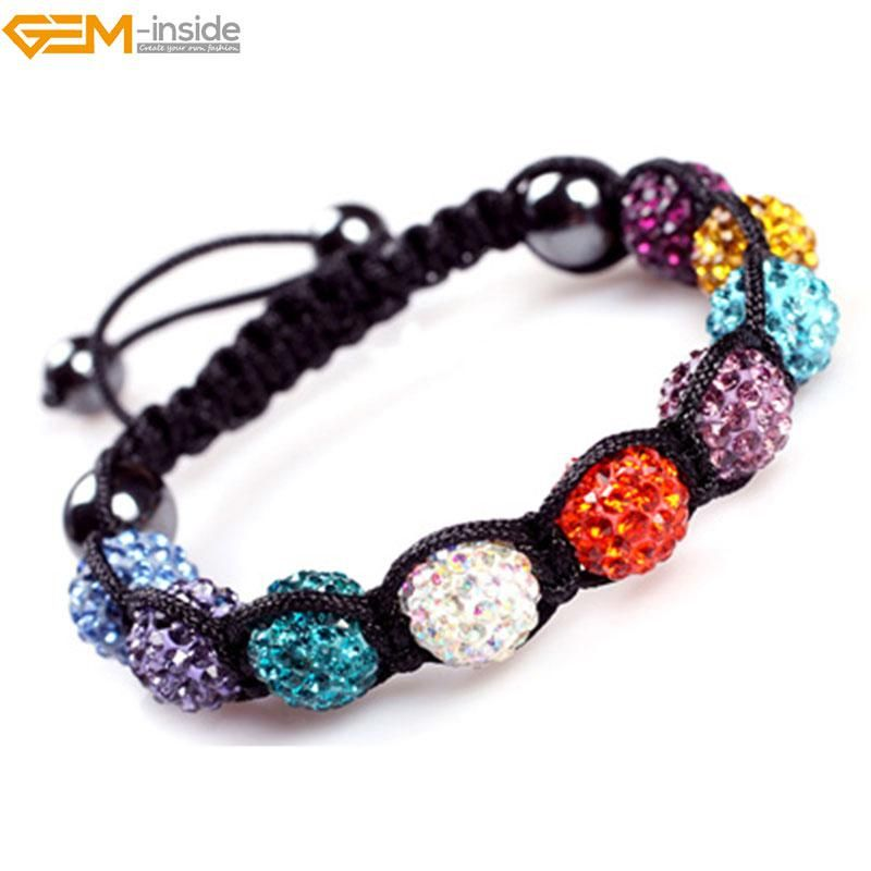 Gem-inside Clay Rhinestones 10mm Shaballa CZ Crystal Pave For Women Fashion  Jewelry DIY Bracelet 9+4 Selectable Color. Yesterday s price  US  14.48  (12.66 ... 2e3724240849